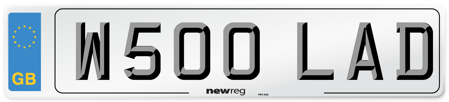 W500 LAD Number Plate from New Reg