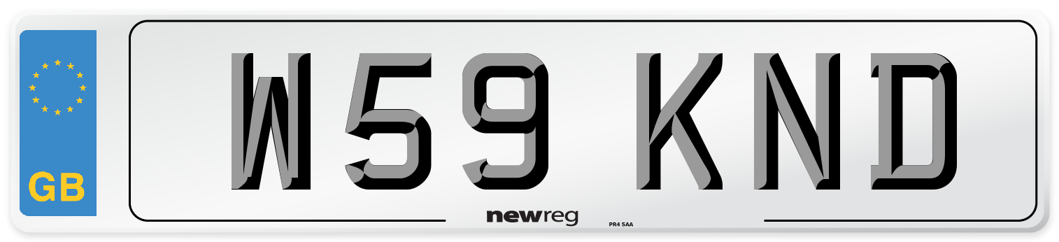 W59 KND Number Plate from New Reg