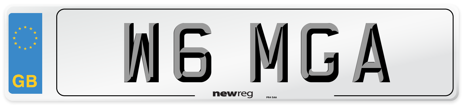 W6 MGA Number Plate from New Reg