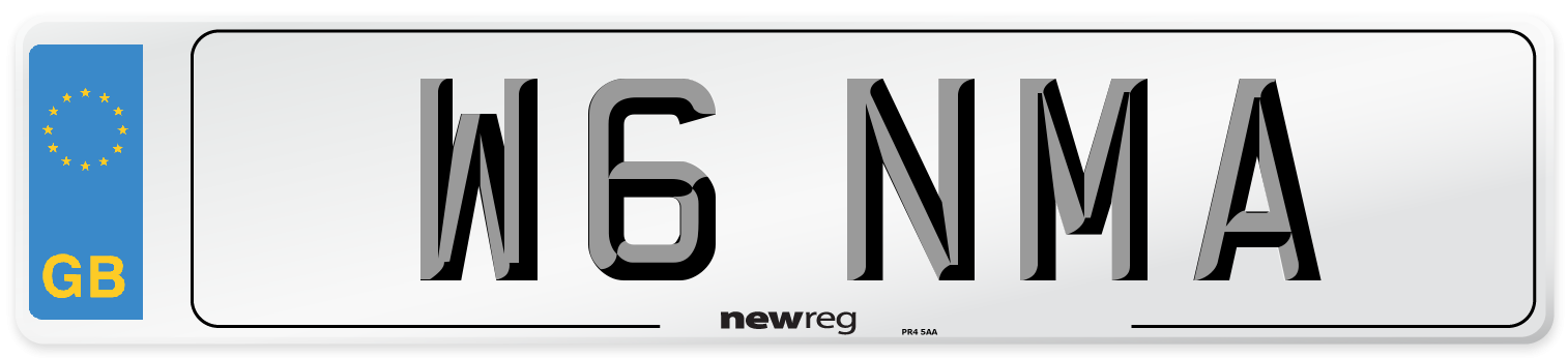 W6 NMA Number Plate from New Reg