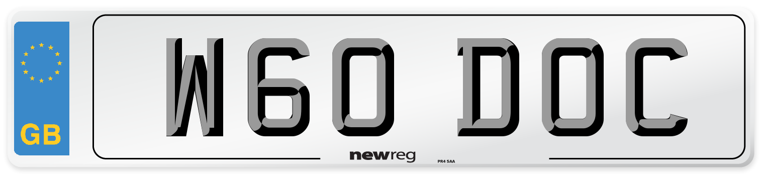 W60 DOC Number Plate from New Reg