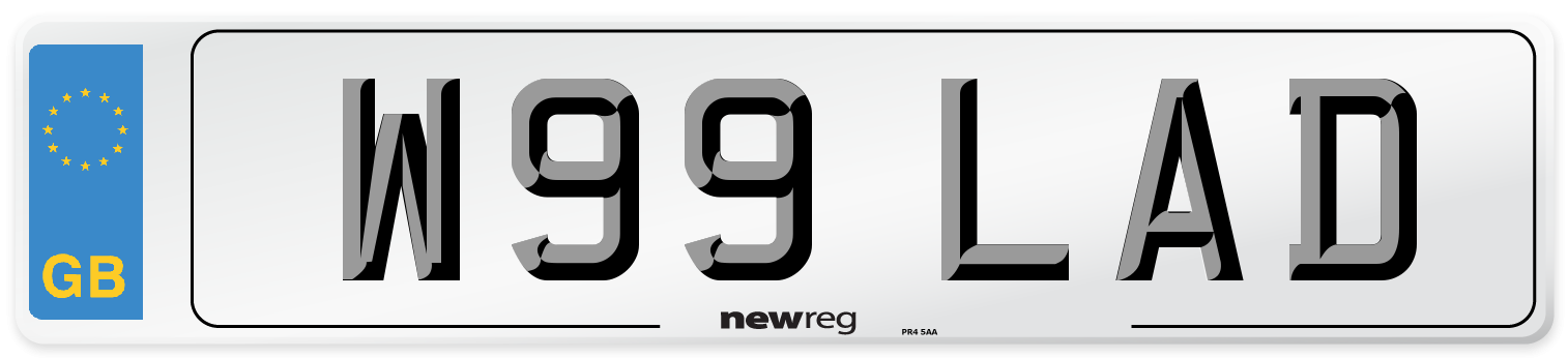 W99 LAD Number Plate from New Reg