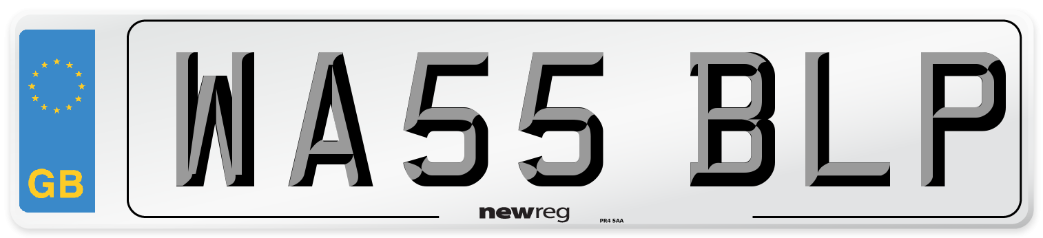 WA55 BLP Number Plate from New Reg