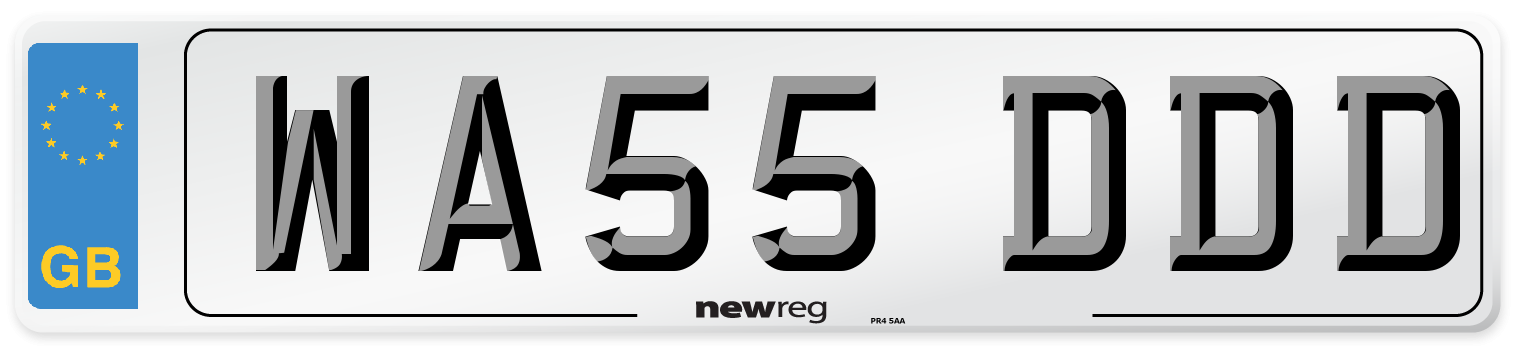 WA55 DDD Number Plate from New Reg