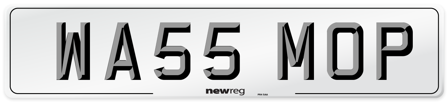 WA55 MOP Number Plate from New Reg