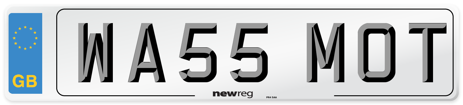 WA55 MOT Number Plate from New Reg
