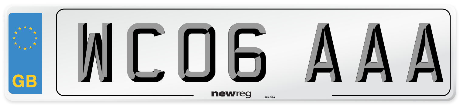 WC06 AAA Number Plate from New Reg