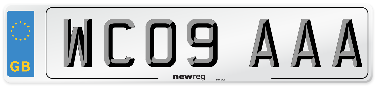 WC09 AAA Number Plate from New Reg