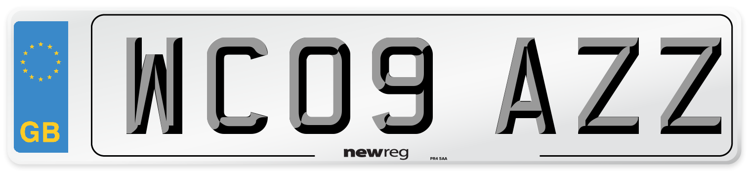 WC09 AZZ Number Plate from New Reg