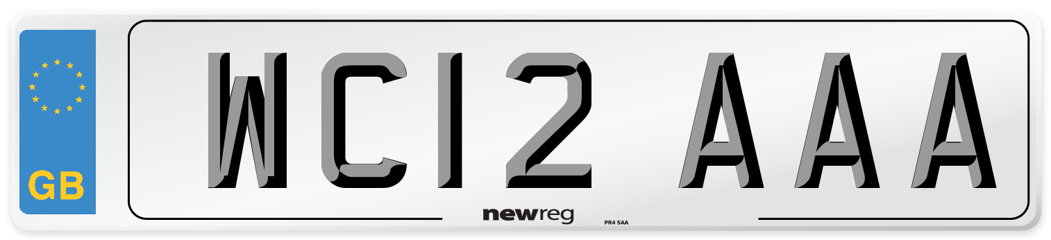 WC12 AAA Number Plate from New Reg