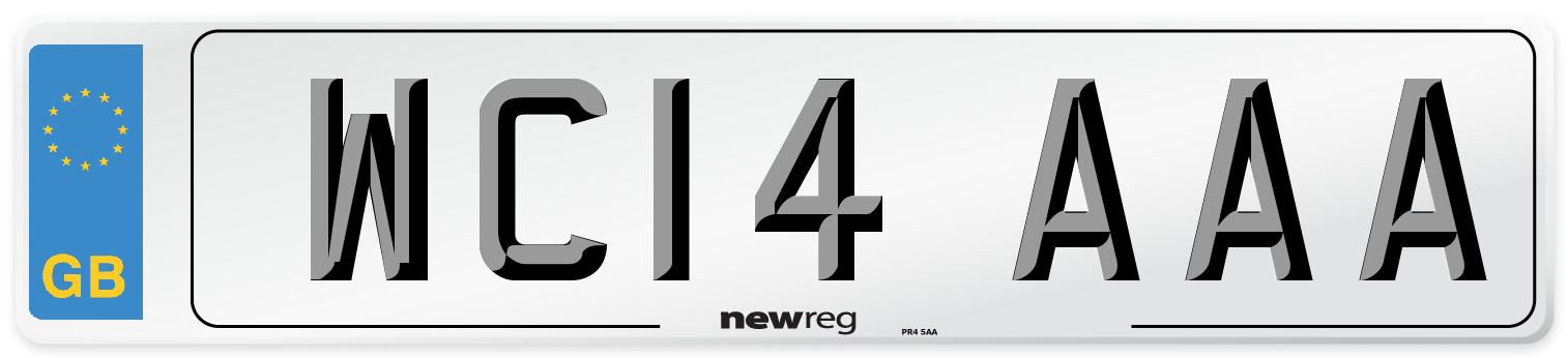 WC14 AAA Number Plate from New Reg