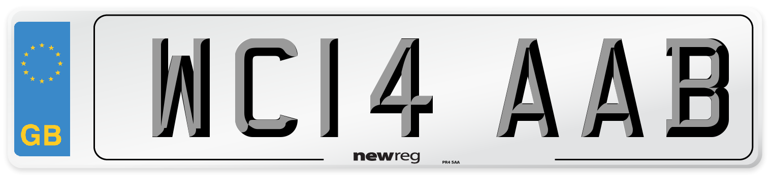 WC14 AAB Number Plate from New Reg
