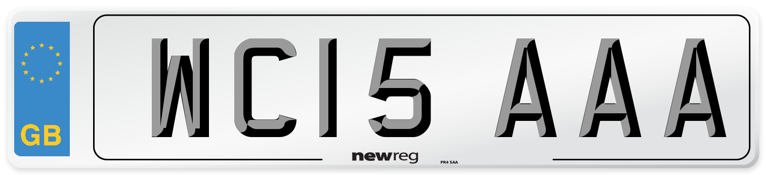 WC15 AAA Number Plate from New Reg