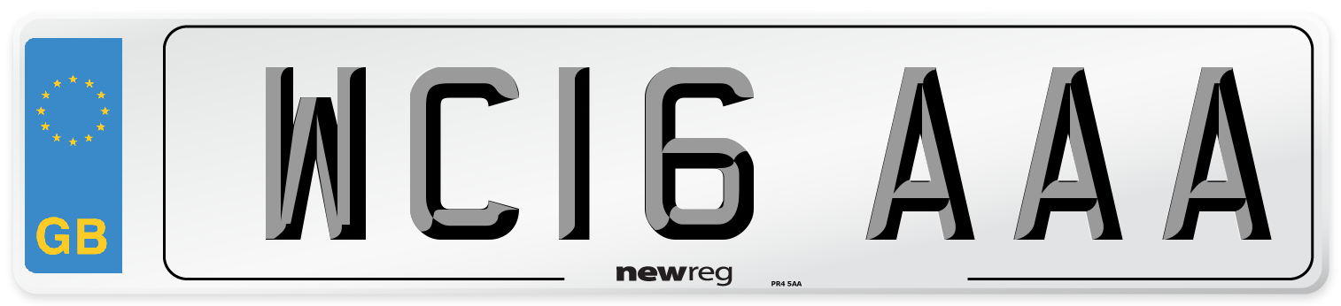 WC16 AAA Number Plate from New Reg