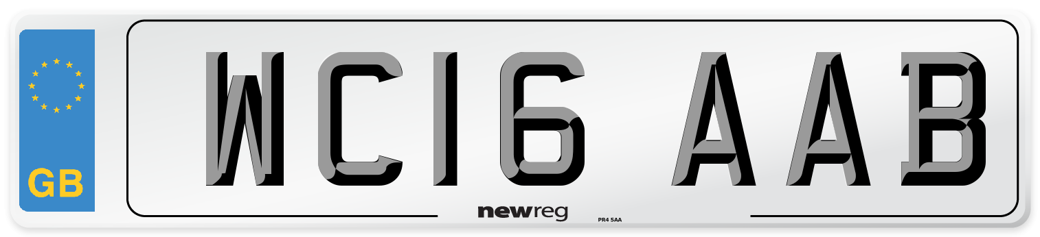 WC16 AAB Number Plate from New Reg