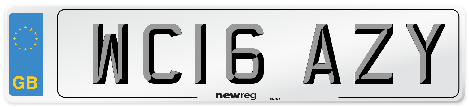 WC16 AZY Number Plate from New Reg
