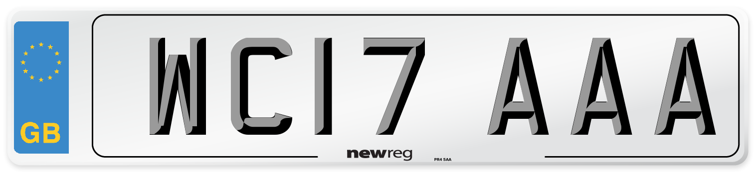 WC17 AAA Number Plate from New Reg