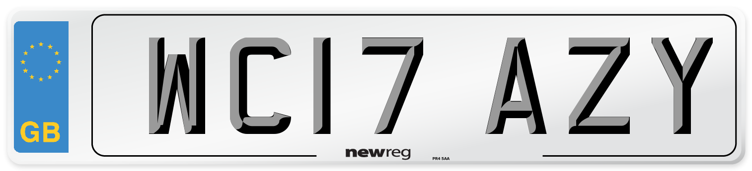 WC17 AZY Number Plate from New Reg