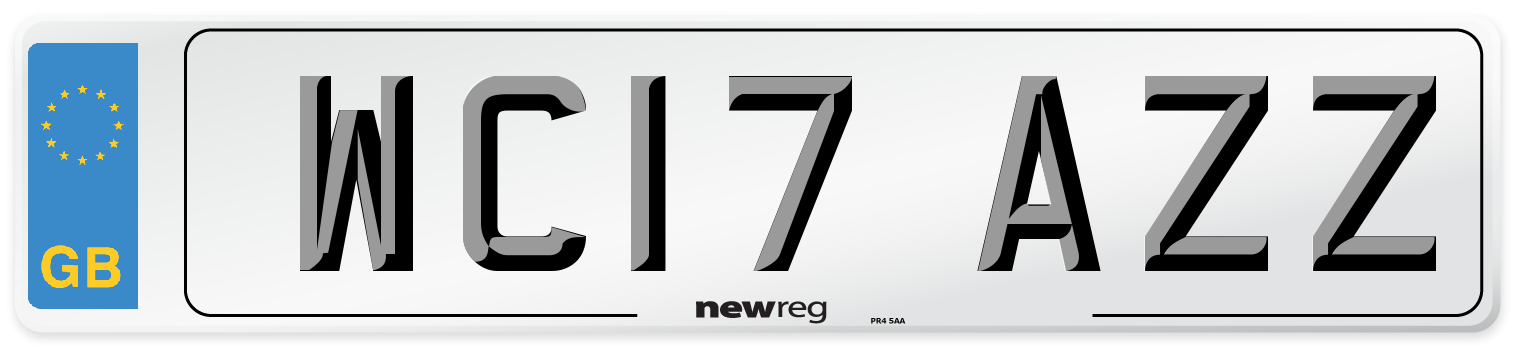 WC17 AZZ Number Plate from New Reg