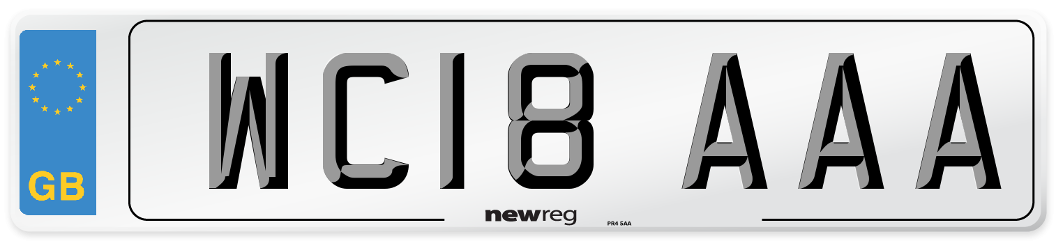 WC18 AAA Number Plate from New Reg