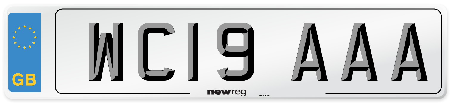 WC19 AAA Number Plate from New Reg