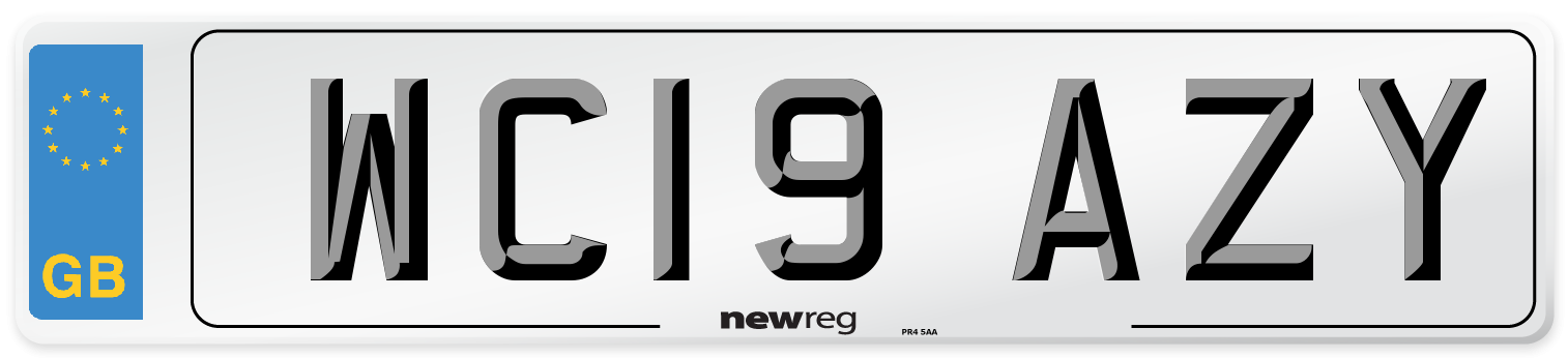 WC19 AZY Number Plate from New Reg