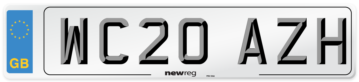 WC20 AZH Number Plate from New Reg