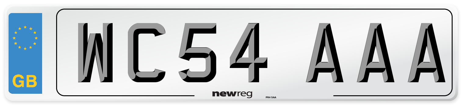 WC54 AAA Number Plate from New Reg