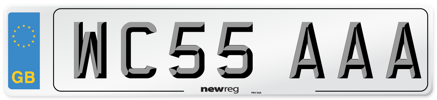 WC55 AAA Number Plate from New Reg