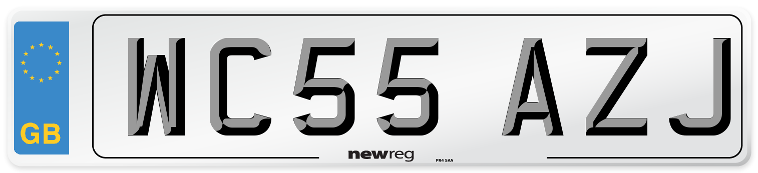 WC55 AZJ Number Plate from New Reg