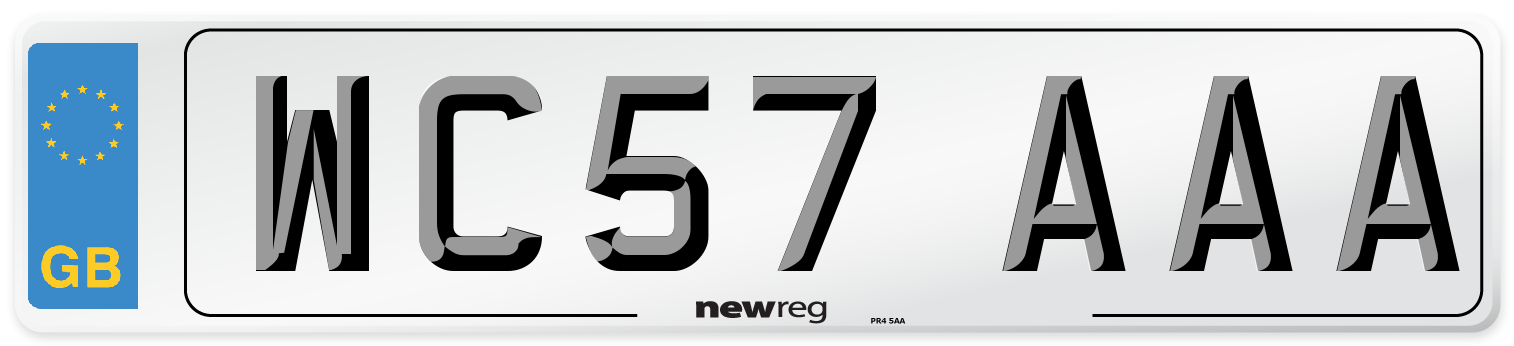 WC57 AAA Number Plate from New Reg