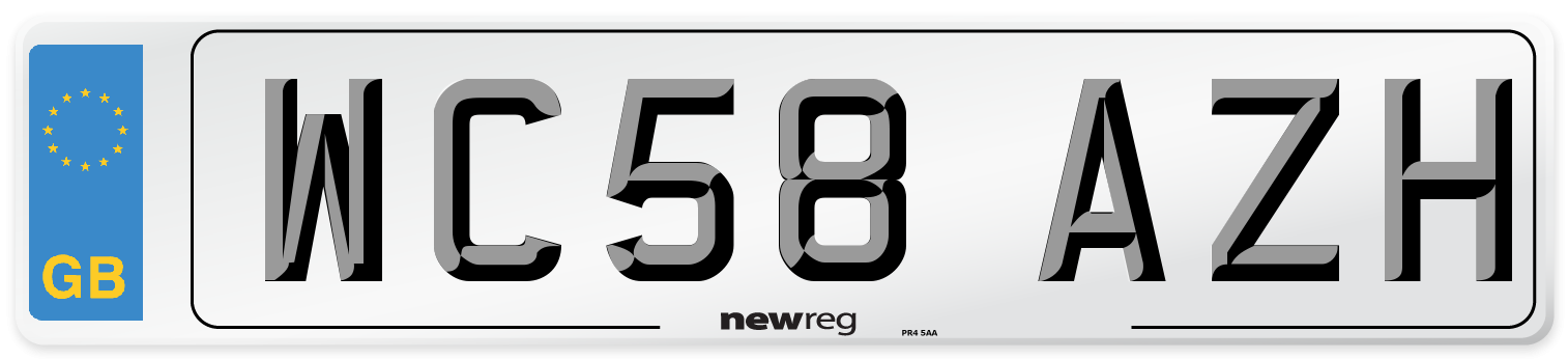 WC58 AZH Number Plate from New Reg