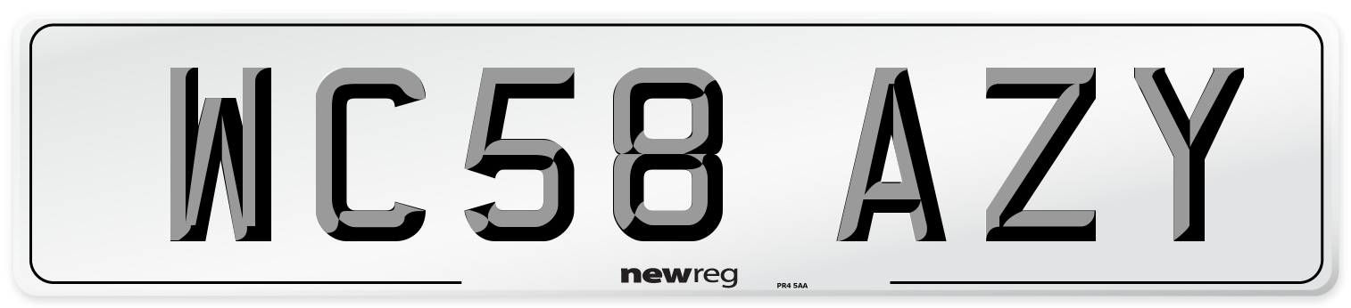 WC58 AZY Number Plate from New Reg