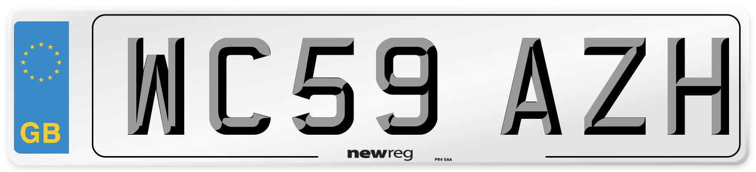 WC59 AZH Number Plate from New Reg