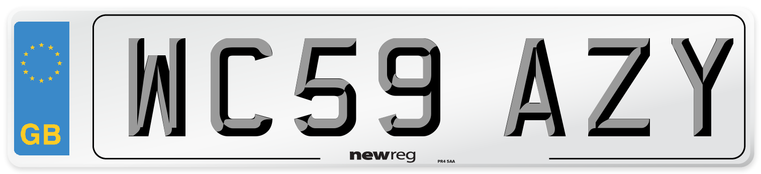 WC59 AZY Number Plate from New Reg