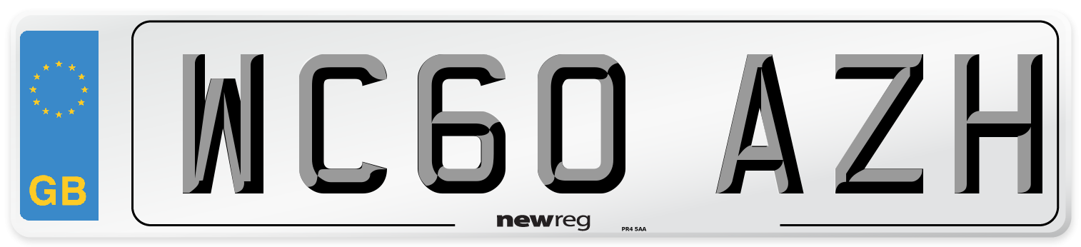 WC60 AZH Number Plate from New Reg