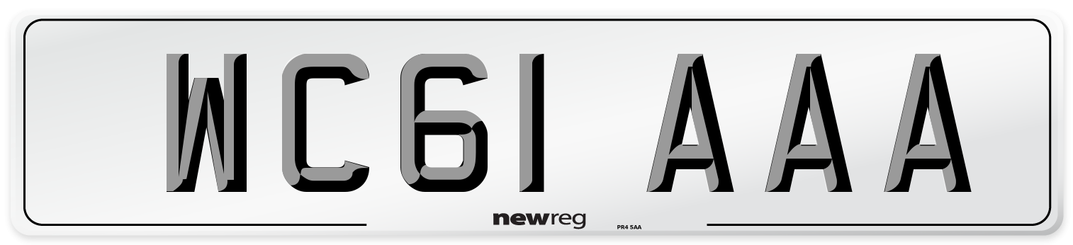 WC61 AAA Number Plate from New Reg