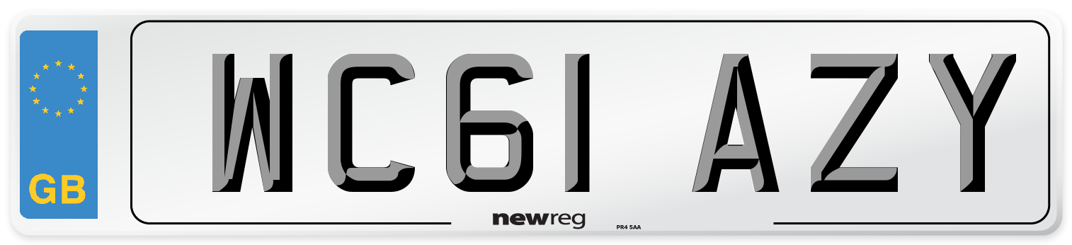 WC61 AZY Number Plate from New Reg