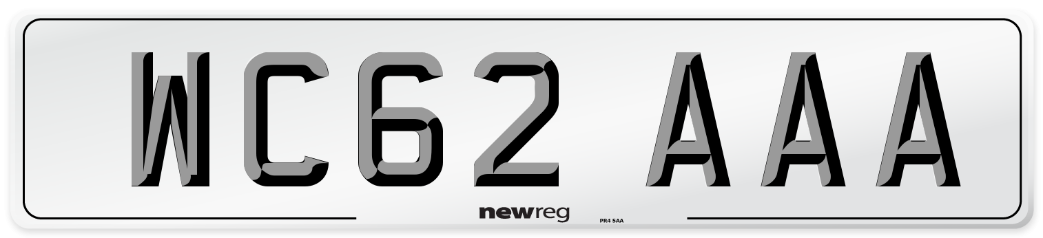 WC62 AAA Number Plate from New Reg