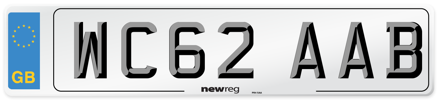 WC62 AAB Number Plate from New Reg