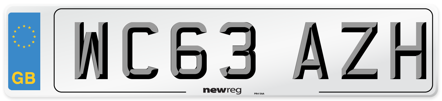 WC63 AZH Number Plate from New Reg