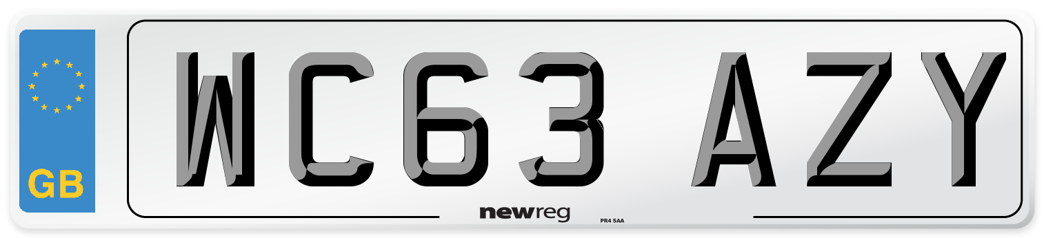 WC63 AZY Number Plate from New Reg
