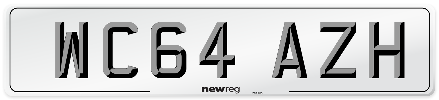 WC64 AZH Number Plate from New Reg