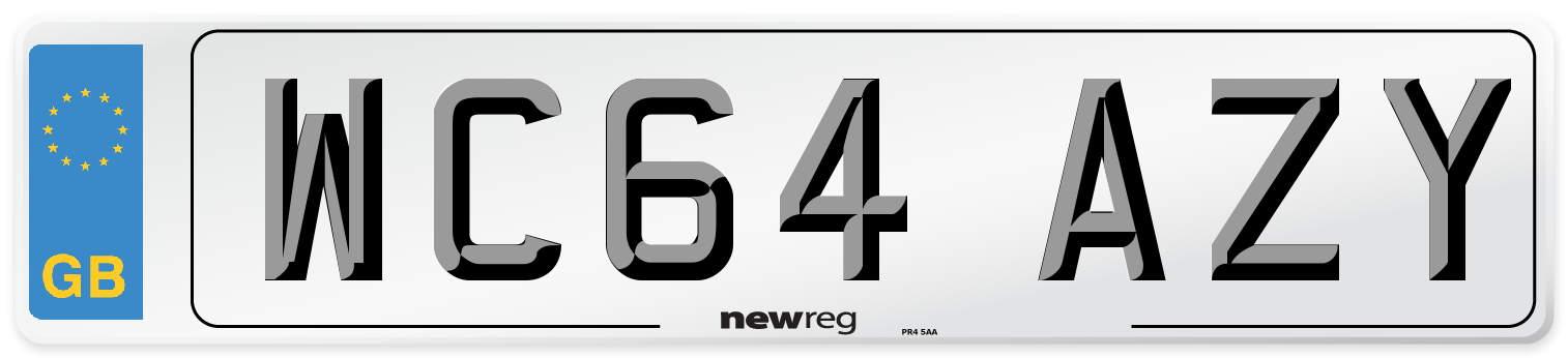 WC64 AZY Number Plate from New Reg