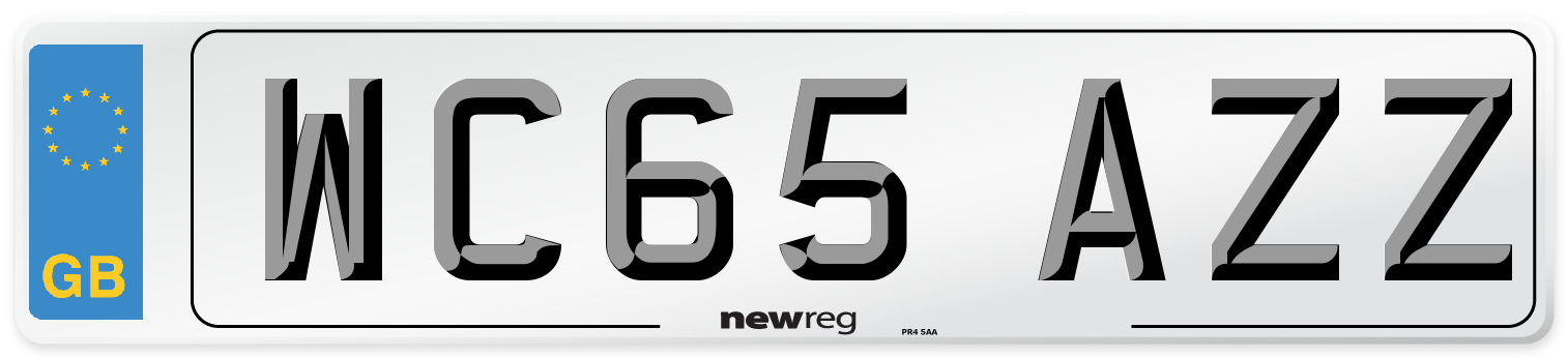 WC65 AZZ Number Plate from New Reg
