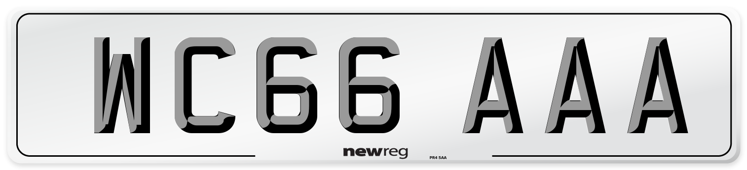 WC66 AAA Number Plate from New Reg