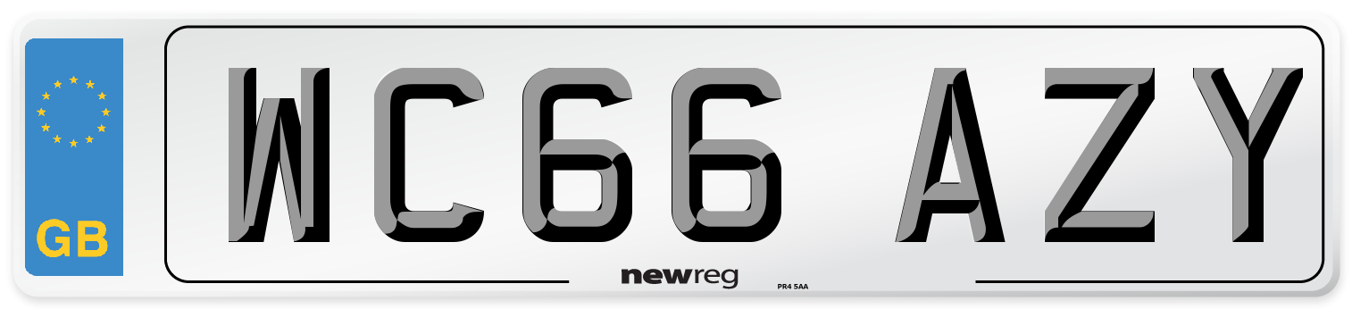 WC66 AZY Number Plate from New Reg