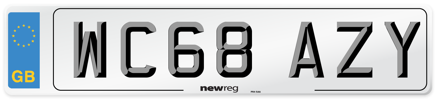WC68 AZY Number Plate from New Reg