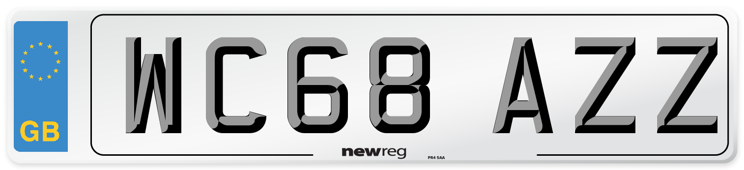 WC68 AZZ Number Plate from New Reg
