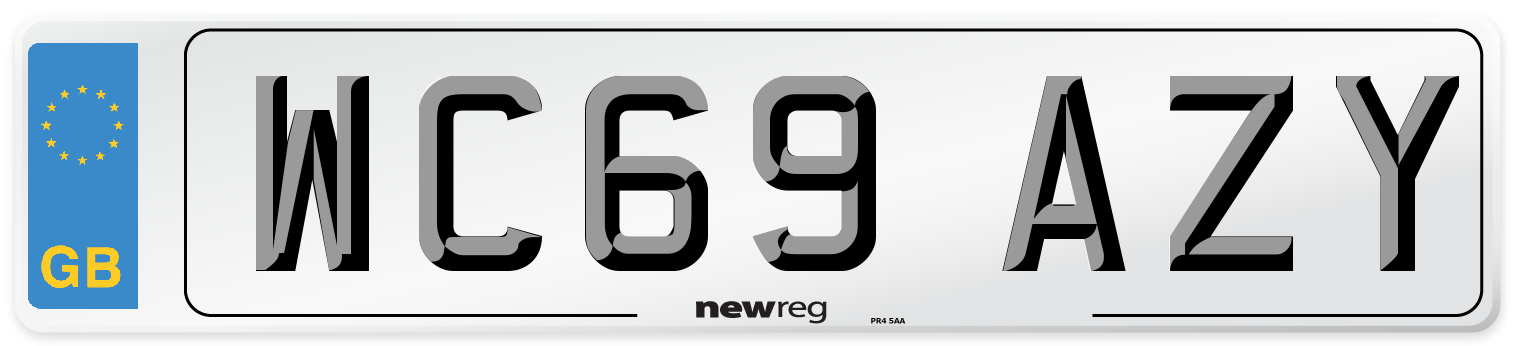 WC69 AZY Number Plate from New Reg